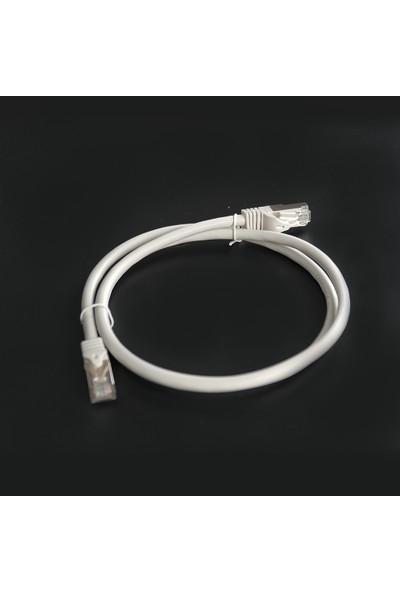 Canovate Bakır Patch Kablo CAT6A U/ftp 3mt Lszh Gri Folyo Korumalı Patch Cord