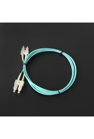 Canovate Fiber Optik Patch Kablo Scpc/scpc Dubleks Multimode (Mm) 1mt Aqua Renkli Patch Cord