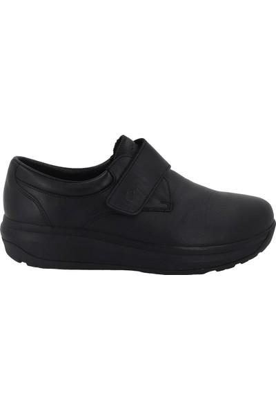 Joya Siyah Deri Anatomik Erkek Ayakkabısı Edward
