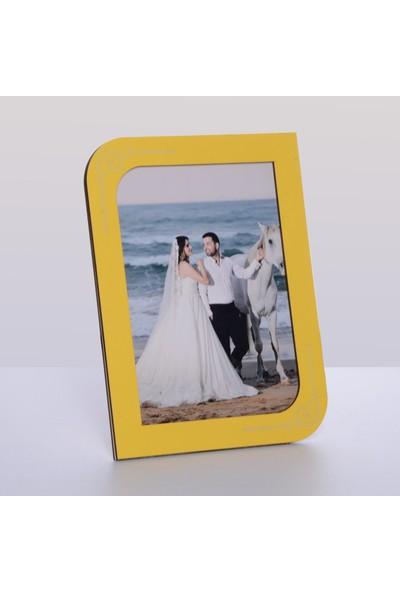 Technopa Ahşap Sarı Renk Resim Çerçeve 15 x 21 cm