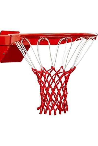 Özbek Basketbol Filesi 4mm Polys. Beyaz - Kırmızı - 2 Adet (Basketbol Pota Ağı)