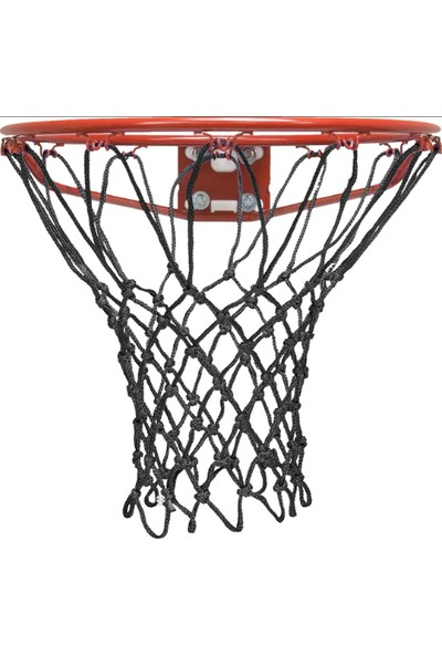 Özbek Basketbol Filesi 4mm Polys. Siyah - 2 Adet (Basketbol Pota Ağı)