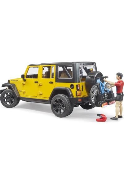 Bruder Jeep W. Rubicon & Bisiklet ve Sürücüsü BR02543