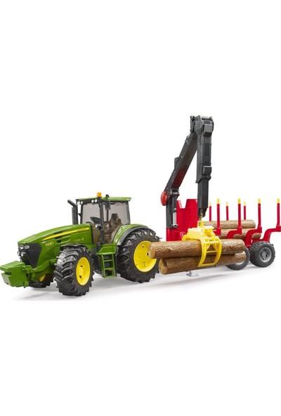 Bruder John Deere 7930 Traktör ve Kütük Taşıyan Römork BR03054