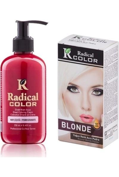Radical Color Nar Çiçeği Amonyaksız Su Bazlı Saç Boyası 250ml 2SET
