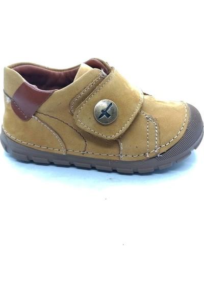 Arulens Anatomik %100 Doğal Deri Nubuk Sarı Rengi Çocuk Ayakkabı