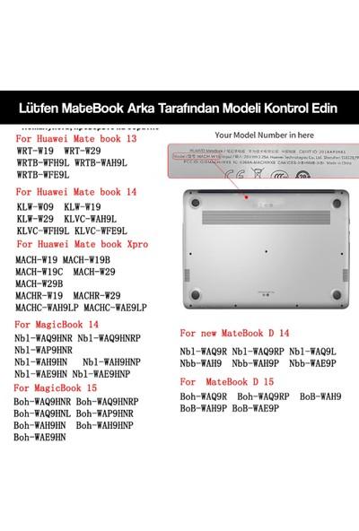 """Macstorey Huawei Matebook Kılıf Koruyucu Hardcase Matebook D15 Magicbook 15""""2018-2020 Parmakizi Bırakmaz Kılıf Şeffaf"""