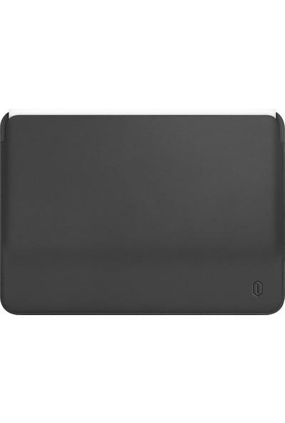"Macstorey Laptop Notebook Bilgisayar Çantası Deri Mıknatıslı Kapak MacBook Pro A1706 A1989 A2159 13"" Gri"