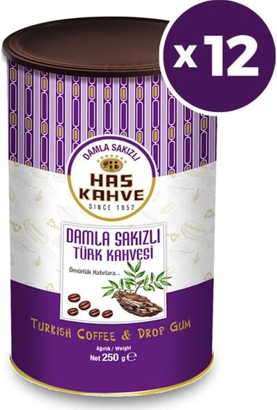 Has Kahve Damla Sakızlı Türk Kahvesi 250 gr x 12 Adet