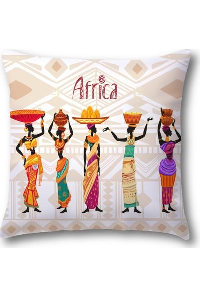 MakeArt Home Afrika Etnik Desenler 040 Kırlent Kılıfı