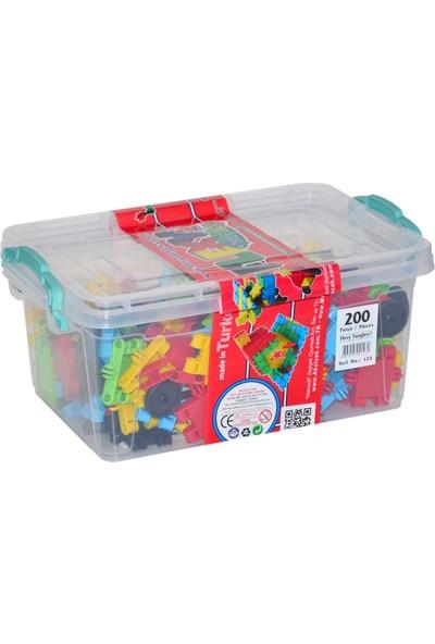 Akçiçek Oyuncak Flexy 200 Parça Plastik Kutu