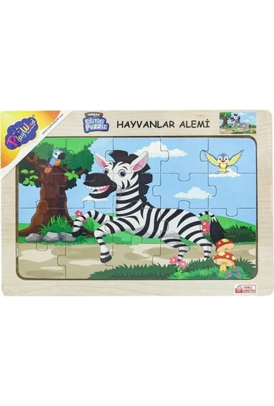 Onyıl Oyuncak Ahşap Eğitim Puzzle Hayvanlar Alemi