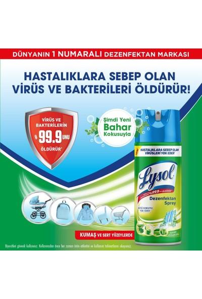 Lysol Dezenfektan Sprey Temizliğin Esintisi + Bahar Ferahlığı, Yüzeyler Için, 6X400 ml