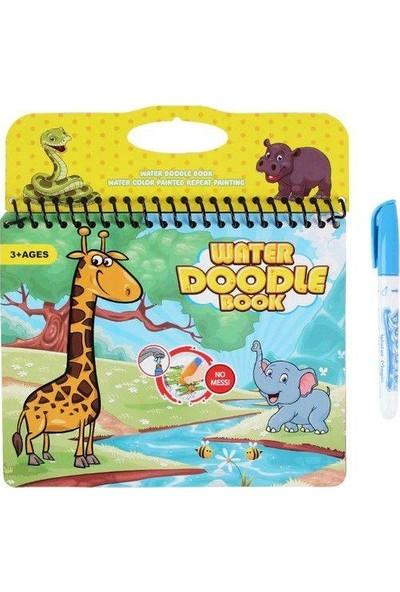 Magic Water Doğada Sevimli Hayvanlar Sihirli Su Boyama Kitabı + 8 Adet Boyama Kitabı