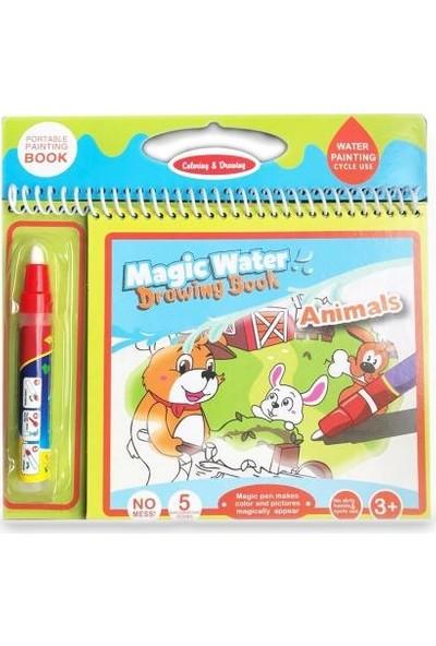 Magic Water Animals Sevimli Hayvanlar Sihirli Su Boyama Kitabı + 8 Adet Boyama Kitabı