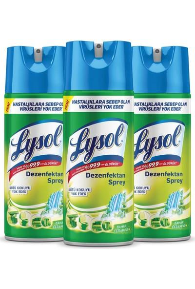 Lysol Dezenfektan Sprey Bahar Ferahlığı 3'lü, Yüzeyler Için, 3 x 400 ml