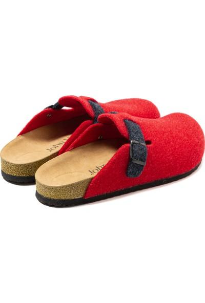 John May Bej Kadın BA-S902.042 John May Keçe Terlik Kırmızı (452)-LACİ (364)