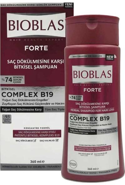 Bioblas Forte Saç Dökülmesine Karşı Bitkisel Şampuan 360 ml