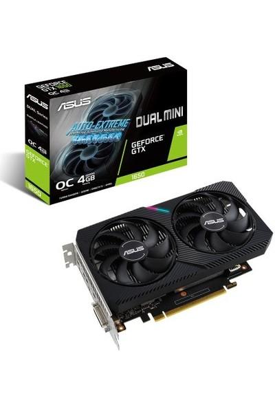 Asus Dual GeForce GTX1650 OC Mini 4GB GDDR6 128Bit 1650MHz OC 1xDVI 1xHDMI 1xDP RGB Ekran Kartı DUAL-GTX1650-O4GD6-MINI