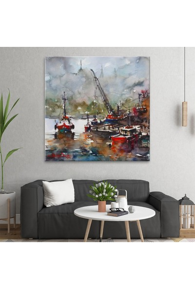 Arty Tablo Suluboya Balıkçı Tekneleri Tablo