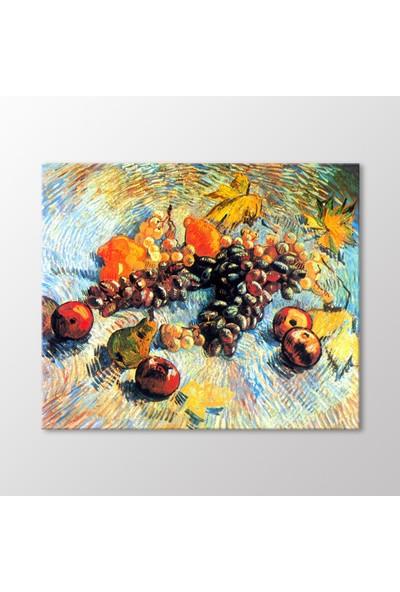 Arty Tablo Meyvelerle Natürmort, 1887 Tablo