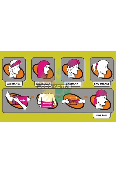 Loco Active Çok Amaçlı Bandana Maske-Ride For Free
