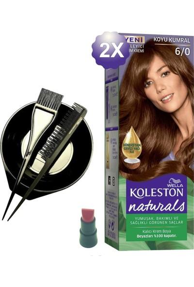Koleston Naturals Koyu Kumral Saç Boyası 6.0 x 2 Adet - Saç Boyama Kabı