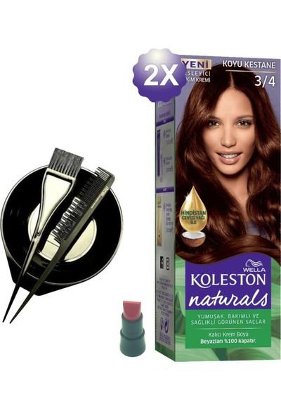 Koleston Naturals Koyu Kestane Saç Boyası 3.4 x 2 Adet - Saç Boyama Kabı