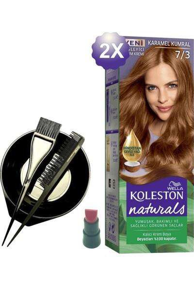 Koleston Naturals Karamel Kumral Saç Boyası 7.3 x 2 Adet - Saç Boyama Kabı