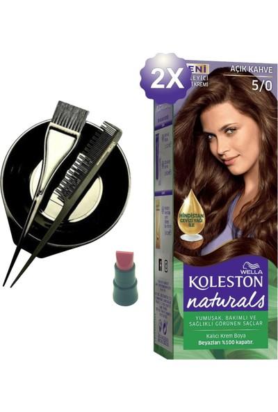 Koleston Naturals Açık Kahve Saç Boyası 5.0 x 2 Adet - Saç Boyama Kabı