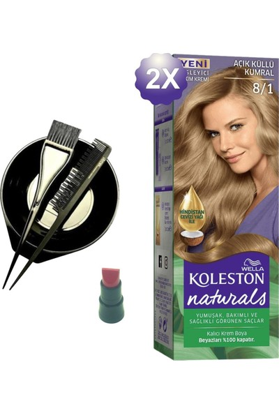 Koleston Naturals Açık Küllü Kumral Saç Boyası 8.1 x 2 Adet - Saç Boyama Kabı
