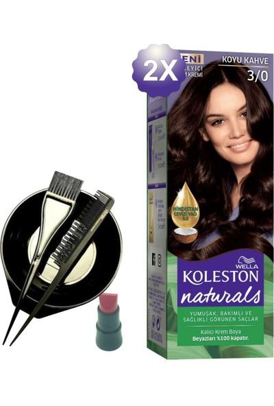 Koleston Naturals Koyu Kahve Saç Boyası 3.0 x 2 Adet - Saç Boyama Kabı