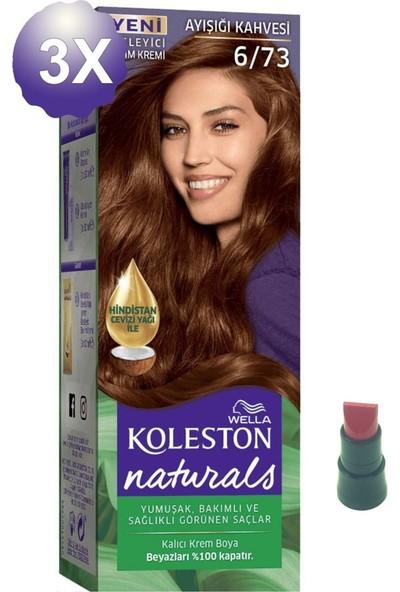 Koleston Naturals Ayışığı Kahvesi Saç Boyası 6.73 x 3 Adet