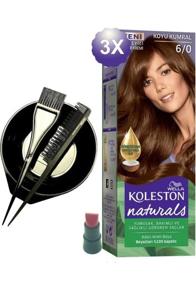 Koleston Naturals Koyu Kumral Saç Boyası 6.0 x 3 Adet - Saç Boyama Kabı