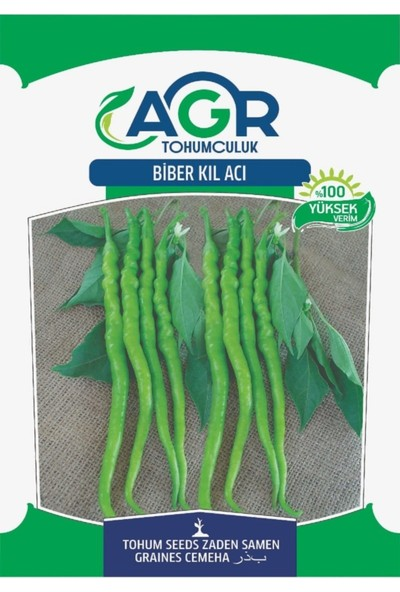 Agr Tohum Biber Tohumu Acı Sivri ( Kıl ) 10 gr Paket