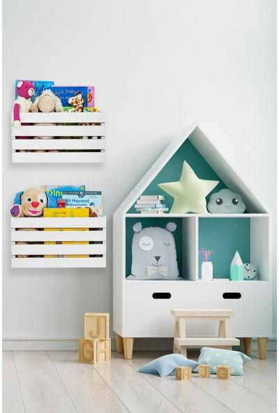 Ankaflex Çocuk Odası 2 Li Montessori Bebek Oyuncak Dolabı Sepeti Saklama Kutusu Oyuncak Kutusu