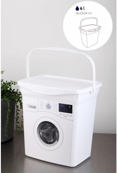 Nethome Çamaşır Makinesi Desenli Beyaz Q-Box Deterjan Kutusu 6 Litre