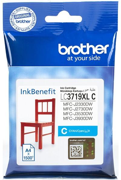 BROTHER LC3719XLC Mavi Mürekkep Kartuş (1500 Sayfa)