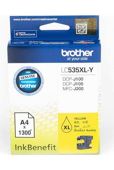 BROTHER LC535XLY Sarı Mürekkep Kartuş (1300 Sayfa)