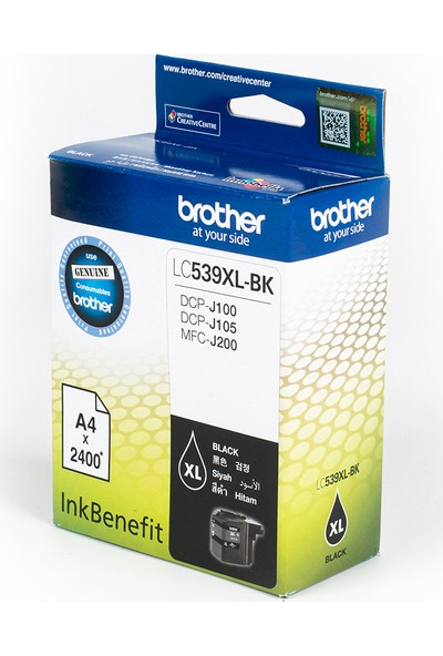 BROTHER LC539XLBK Siyah Mürekkep Kartuş (2400 Sayfa)