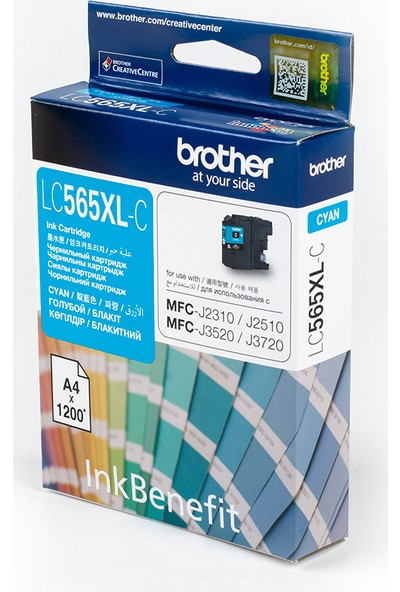 BROTHER LC565XLC Mavi Mürekkep Kartuş (1200 Sayfa)