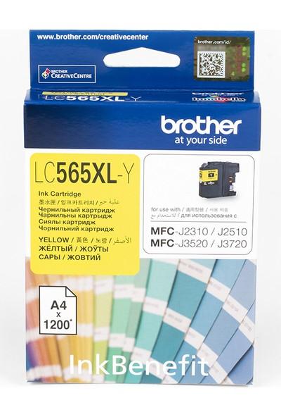 BROTHER LC565XLY Sarı Mürekkep Kartuş (1200 Sayfa)