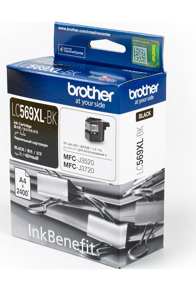 BROTHER LC569XLBK Siyah Mürekkep Kartuş (2400 Sayfa)