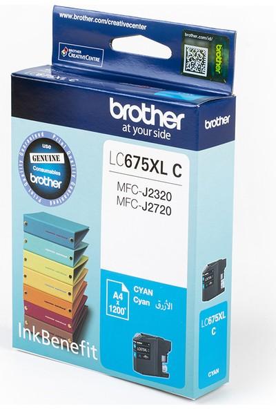 BROTHER LC675XLC Mavi Mürekkep Kartuş (1200 Sayfa)