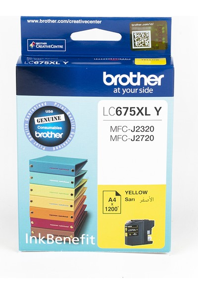 BROTHER LC675XLY Sarı Mürekkep Kartuş (1200 Sayfa)