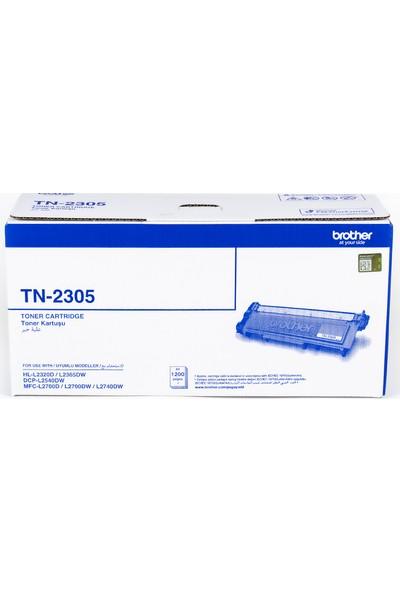 BROTHER TN-2305 Siyah Toner (1200 Sayfa)