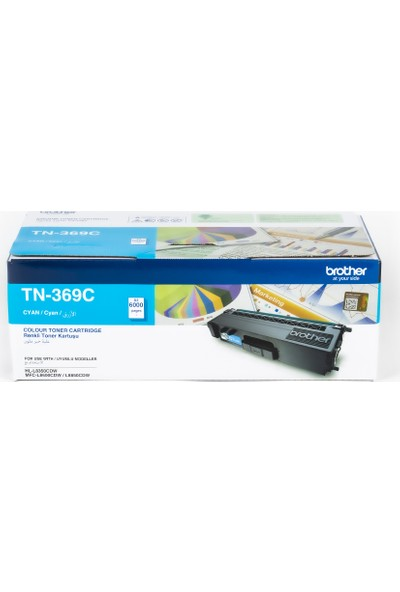 BROTHER TN-369C Mavi Toner (6000 Sayfa)