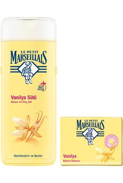 Le Petit Marseillais Duş Jeli Vanilya Sütü 400 ml x 2 + Vanilya Sütü Katı Sabun 90 gr