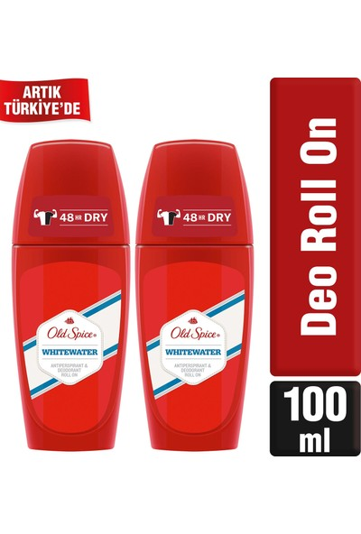 Old Spice Roll On Deodorant Whitewater 50 ml x 2