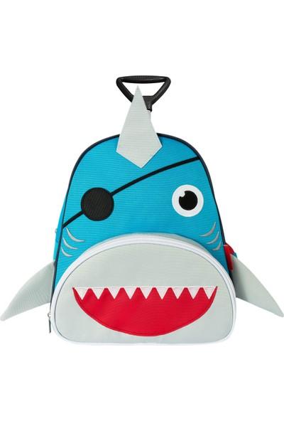 Zoozy Köpek Balığı Çekçekli Anaokulu Sırt Çantası